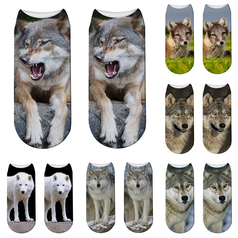 3D Printed <font><b>Animal</b></font> Pattern Cotton <font><b>Socks</b></font> Cute Funny <font><b>Animal</b></font> Dog Women <font><b>Socks</b></font> <font><b>Unisex</b></font> Sports Cycling Low Ankle <font><b>Socks</b></font> Gift For Children image