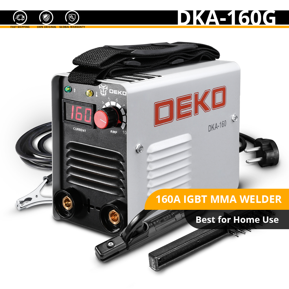DEKO DKA-200Y 200A 4.1KVA инвертор дуговой Электрический сварочный аппарат 220V MMA сварочный аппарат для DIY сварочных работ и электрических работ - Цвет: DKA-160G