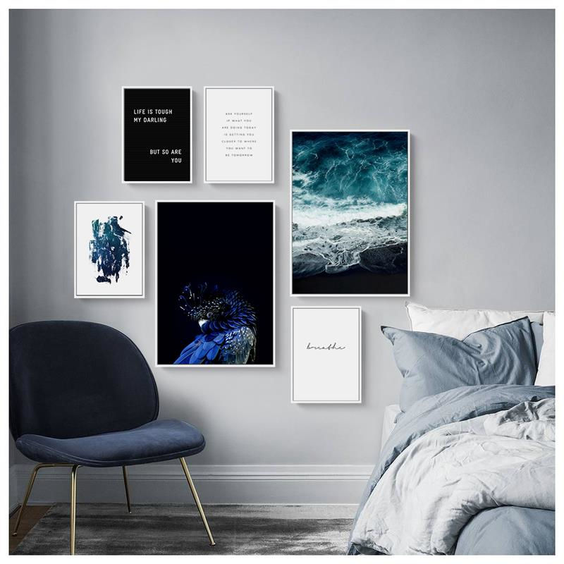 Modern Scenery Picture Seascape Life Quote Home Decor Nordic Canvas Painting Minimalist Art Posters And Prints For Living Room