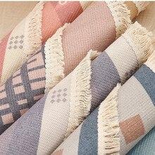 Modern national style round Carpet For Living Room Bedroom  retro  Cotton Linen Tassels Rug Tapestry Mat Home Decoration
