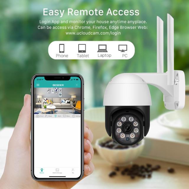 5MP HD PTZ Wifi Camera IP Outdoor Ai Human Detect Audio 1080P FHD IP Camera Color Night Vision 3MP Wifi Security CCTV IP Camera 5
