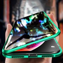 360 Full  Magnetic Protection Shell For IPhone Anti-Peep  Case Metal Frame Double-Sided Tempered Glass For XS MAX 7 8 X XS XR 360 full magnetic protection shell for iphone anti peep case metal frame double sided tempered glass for xs max 7 8 x xs xr