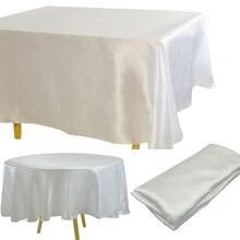 Satin Tablecloth Overlays White Wedding-Restaurant/hotel Christmas Party Non-Splicing