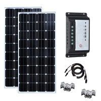 Solar Panel Kit 150w 300W Solar Battery Charger Solar Charge Controller 12v/24v 30A Caravan Car Camping Boat Motorhomes Rv LED