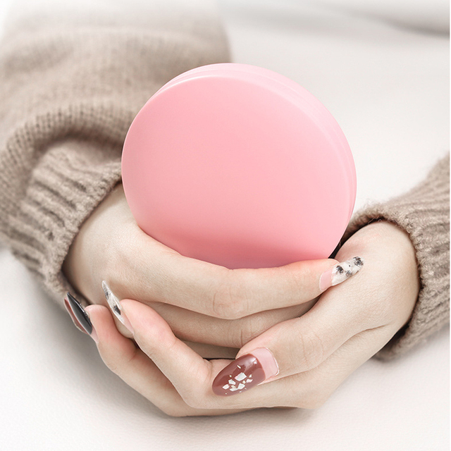 Round 2 In 1 Battery Powered Hand Warmer Power Bank USB Portable Rechargeable Electric Toast Hand Warmers Double-Sided Heater