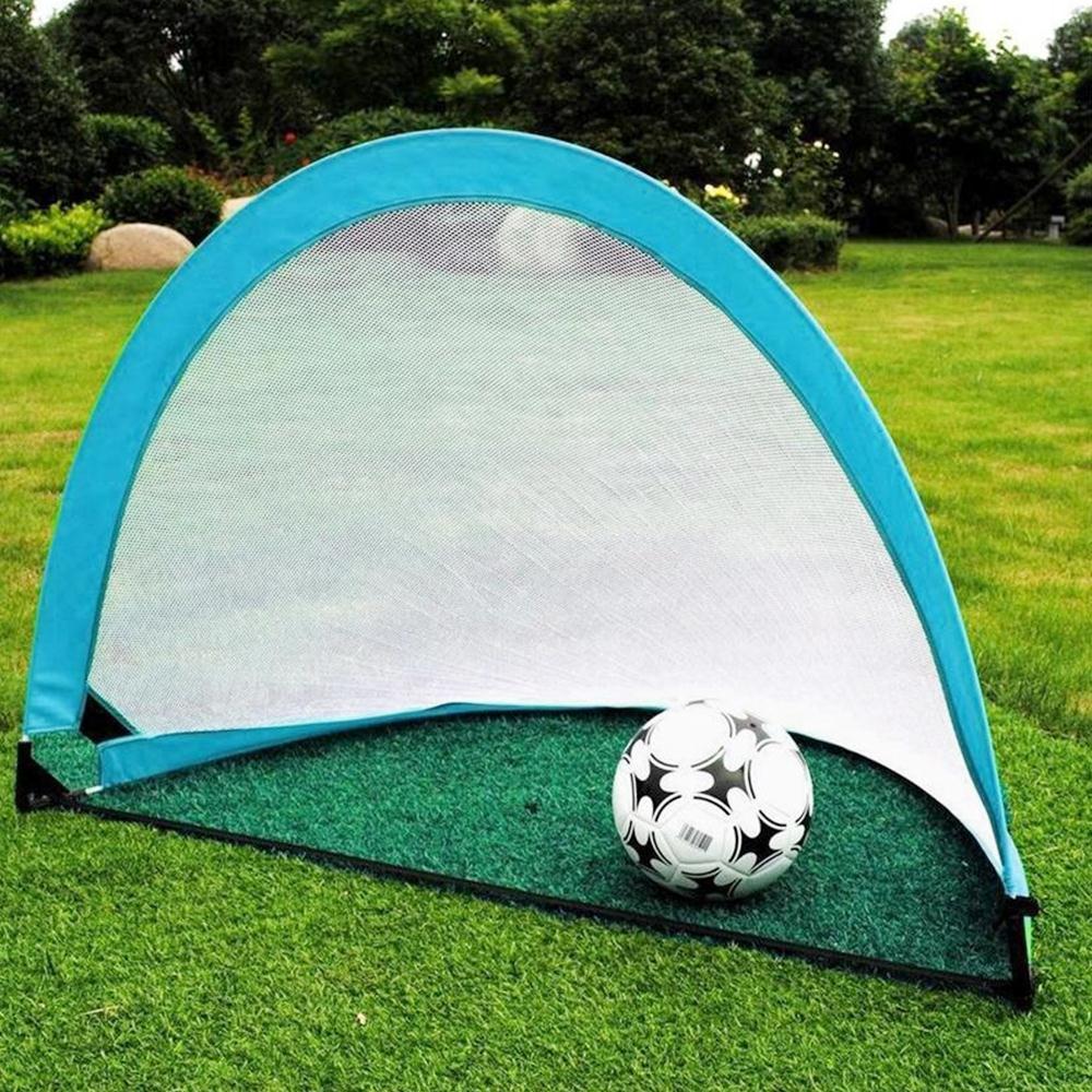 Soccer Football Goal Net Folding Black Training Goal Net Tent Kids Indoor Outdoor Play Toy Practice Gate Children Students