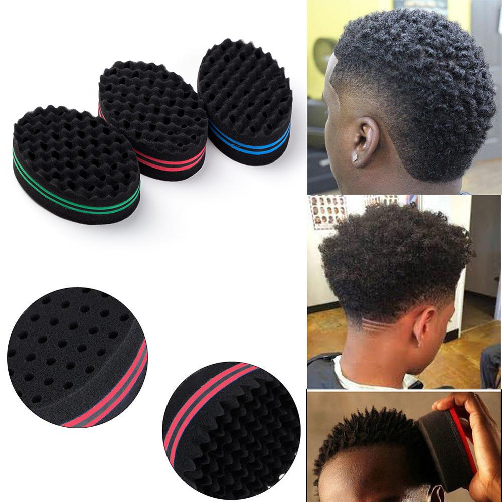 Magic Sponge Hair Brush Salon Barber Wave Comb For Afros Curls Coils Dreadlocks Hair Styling Curl Brush Sponge Tools For Hair