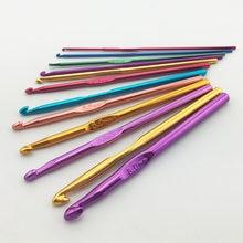 12 шт./компл. набор крючков для ручки Вязание иглы 2/2.5 3/3.5/4/4.5/5/5.5/6 мм 6,5 мм, 7 мм, 8 мм, Пряжа свитер плетения изделий инструменты LT3