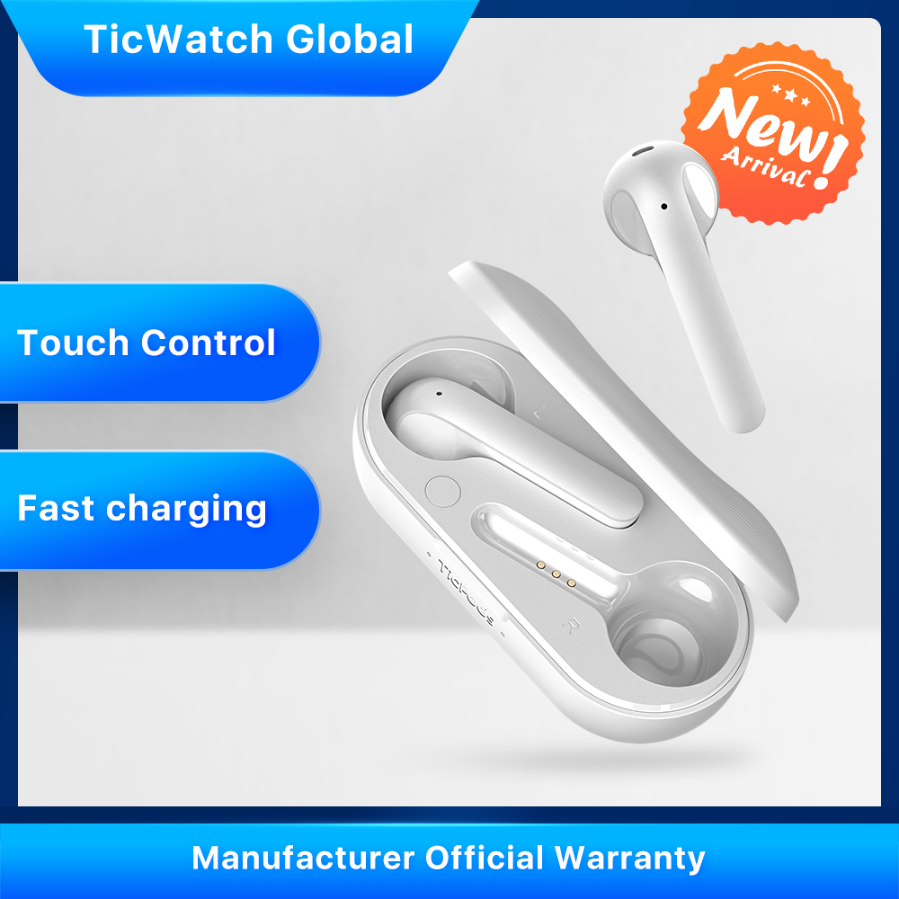 TicPods 2 True Wireless Bluetooth Earbuds In-Ear Detection Superior Sound Quality Touch/Voice/Gesture Control 4PX Waterproof