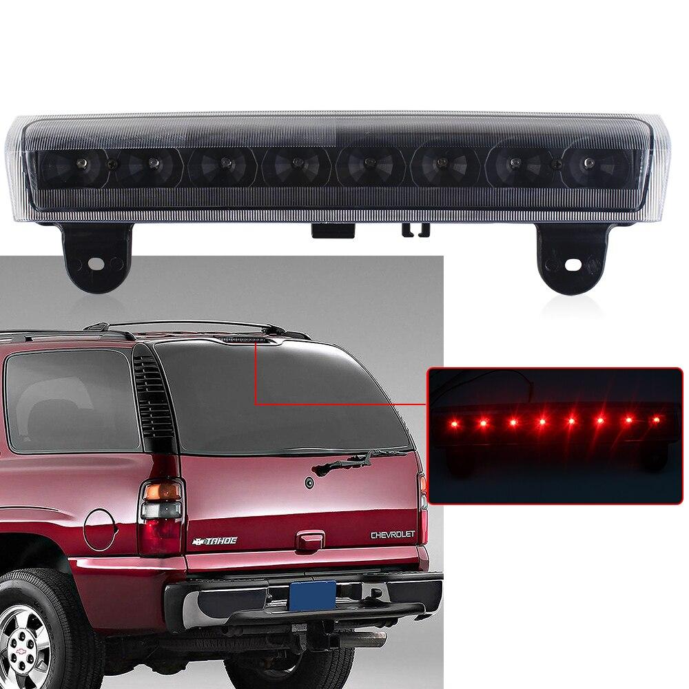 For 2000-2006 Chevy Suburban Tahoe Yukon Smoke LED Light Bar Brake Tail Lights