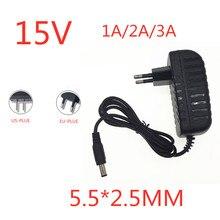 Adaptateur ca/cc 15 V, 1a, 2a, 3a, AC 100-240V, convertisseur de puissance, chargeur 15 V, prise ue/US 15 V, 3a