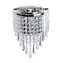 Современный настенный светильник с кристаллами, хромированный настенный светильник для гостиной, ванной, дома, для внутреннего освещения, украшение