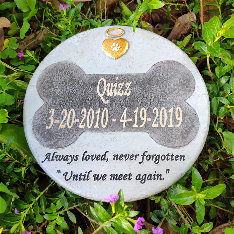 Round Shaped Pet Memorial Stones Personalized Dog Memorial Stones Garden Stones For  Indoors Outdoors Garden  Or  Lawn JSYS
