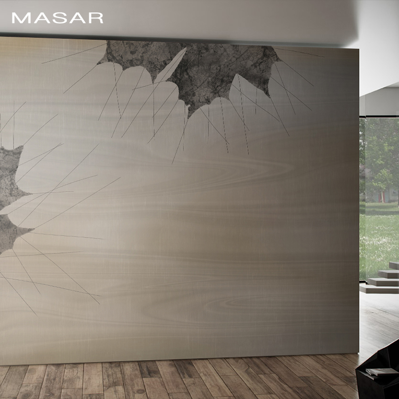 MASAR Blue, Simple Leaves, Murals, Old People's Rooms, Bedrooms, Dining Rooms, TV Background Walls, Wallpaper Billow