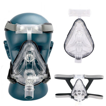 Full Face CPAP Mask Auto with Adjustable Headgear Strap Clip for Sleep Apnea Patient