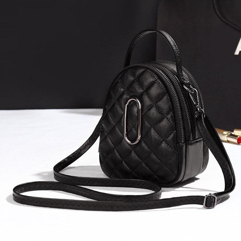 Nouveau 2019 classique petit mignon Lingge fourre-tout sac à bandoulière femmes PU cuir chaîne sacs à main dame mini Messenger sacs pour FemaleQZC064