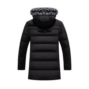 Image 5 - Parkas gruesas para hombre Abrigos con capucha de piel de lana abrigos con capucha de invierno cálidos para hombre chaqueta impermeable Parkas para hombre prendas de vestir abrigos ropa