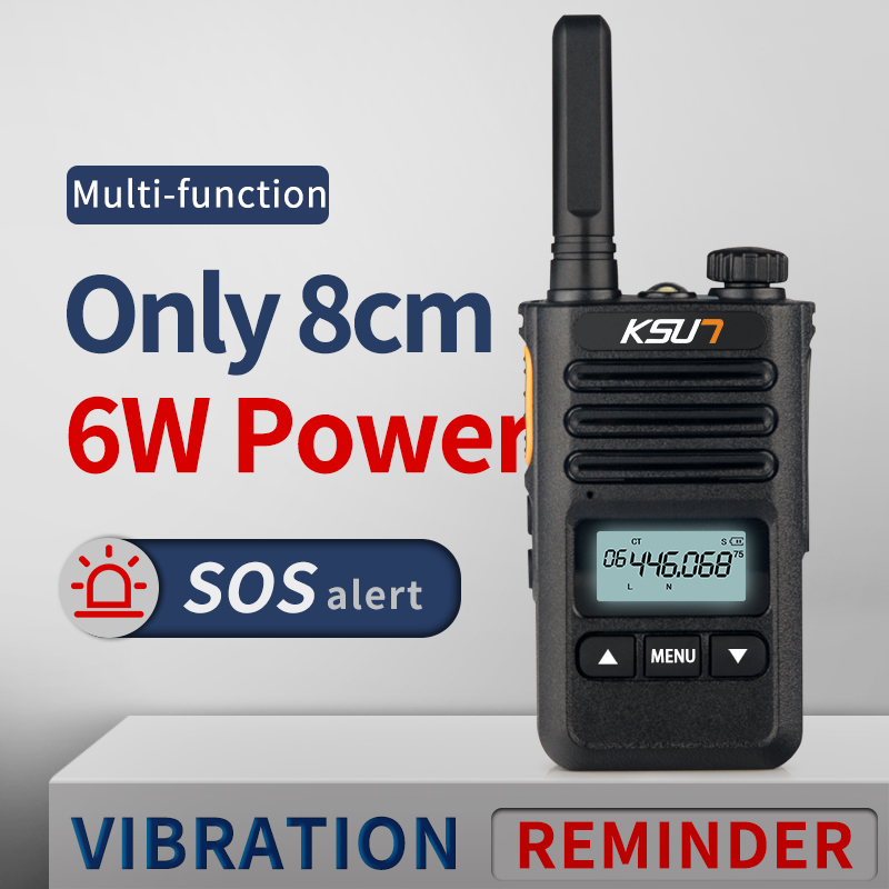 KSUN KS-XKB Walkie Talkie 6W High Power Dual Band Handheld Two Way Ham Radio Communicator HF Transceiver Amateur Handy