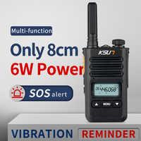 Ksun KS-XKB walkie talkie 6 w de alta potência banda dupla handheld rádio em dois sentidos presunto comunicador hf transceptor amador acessível