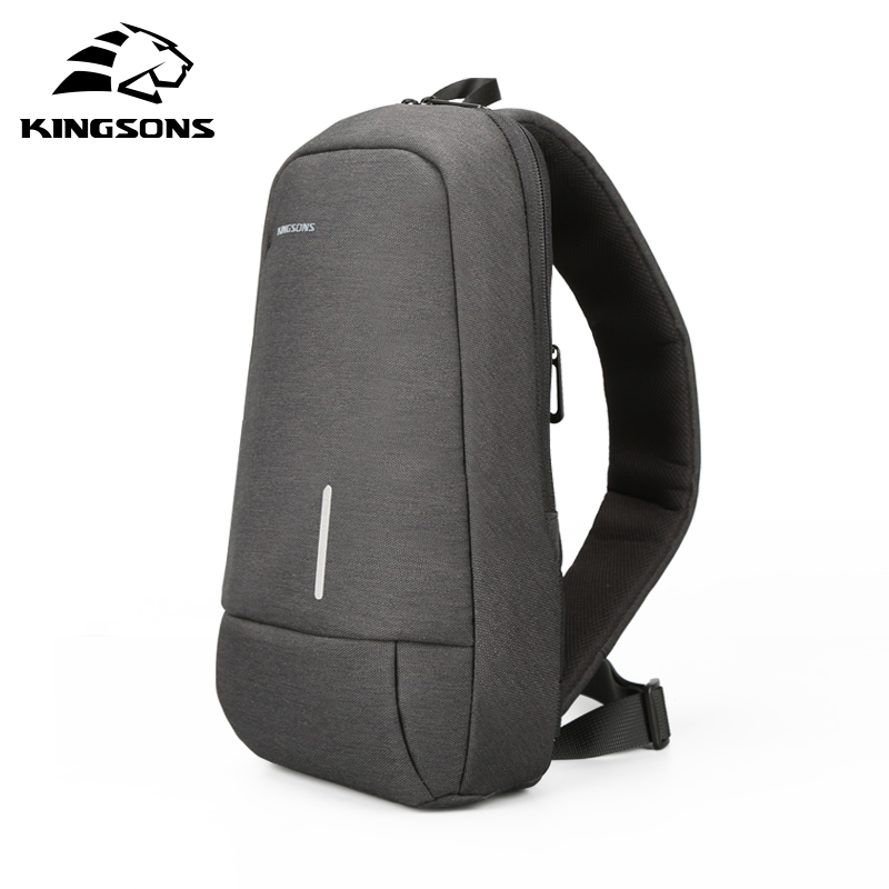 Kingsons 2019 New 3173-A  Leisure Travel Single Shoulder Backpack 7.9 Inch Chest Backpack For Men Women Casual Crossbody Bag
