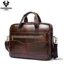 Famous Brand 2020 Men Business Briefcase Bag Travel Leather Computer Laptop Handbag Casual Man Bag Travel Shoulder bags