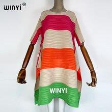 2021 vestido plissado feminino hit cor geométrica com faixas de cinto sobre o tamanho longo doce casual nova moda verão maré