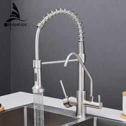 Küche Wasserhähne torneira para cozinha de parede Kran Für Küche Wasser Filter Tap Drei Möglichkeiten Waschbecken Mixer Küche Wasserhahn WF-0192