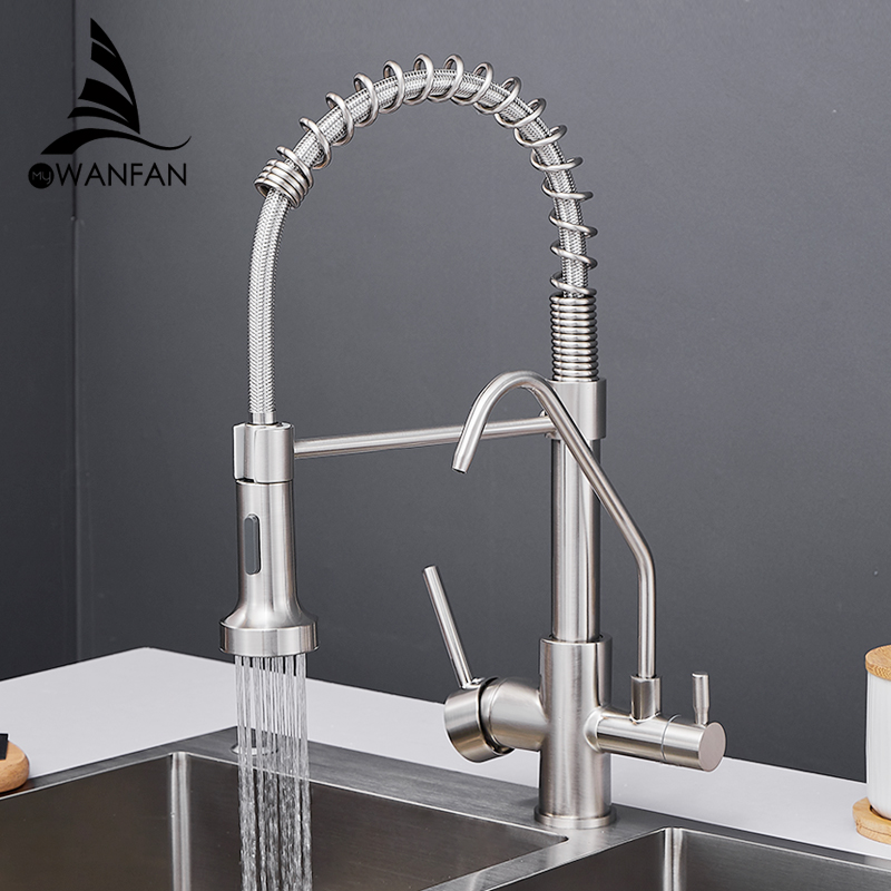 Kitchen Faucets Torneira Para Cozinha De Parede Crane For Kitchen Water Filter Tap Three Ways Sink Mixer Kitchen Faucet WF-0192