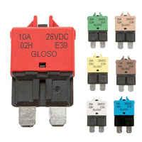 Circuit Breaker Blade Fuse Manual Reset DC12V/24V 5A 6A 7.5A 10A 15A 20A 25A 30A Resettable for RVs Boats ATC Circuit Breakers