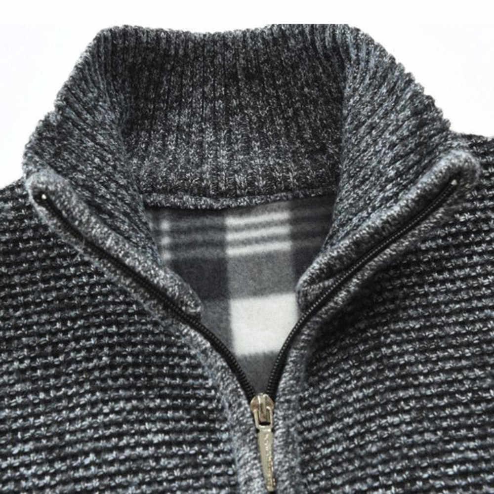 Мужская куртка уличная осенне-зимняя теплая мужская куртка повседневная трикотажная куртка-кардиган с длинными рукавами верхняя одежда casaco masculino