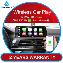 Smartour Wireless CarPlay/Android Auto/Mirrorlink Module for BMW NBT System 3 Series F30/F31/F34/F32/F33/F36/F10/F11/F07/F01/F02 for bmw e90 e92 e93 f20 f21 f30 f31 f32 f33 f34 f15 f10 f01 f11 f02 g30 m performance side skirt sill stripe body decals sticker