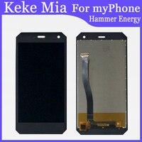Telefone móvel 5.0 inch inch polegadas para myphone martelo energia display lcd + digitador da tela de toque peças reparo vidro da tela substituir e ferramentas