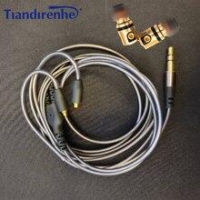 DIY interfejs MMCX DD dynamiczne HIFI słuchawki douszne odpinany Mmcx kabel do Shure słuchawki SE215 SE535 SE846 UE900 zestaw słuchawkowy