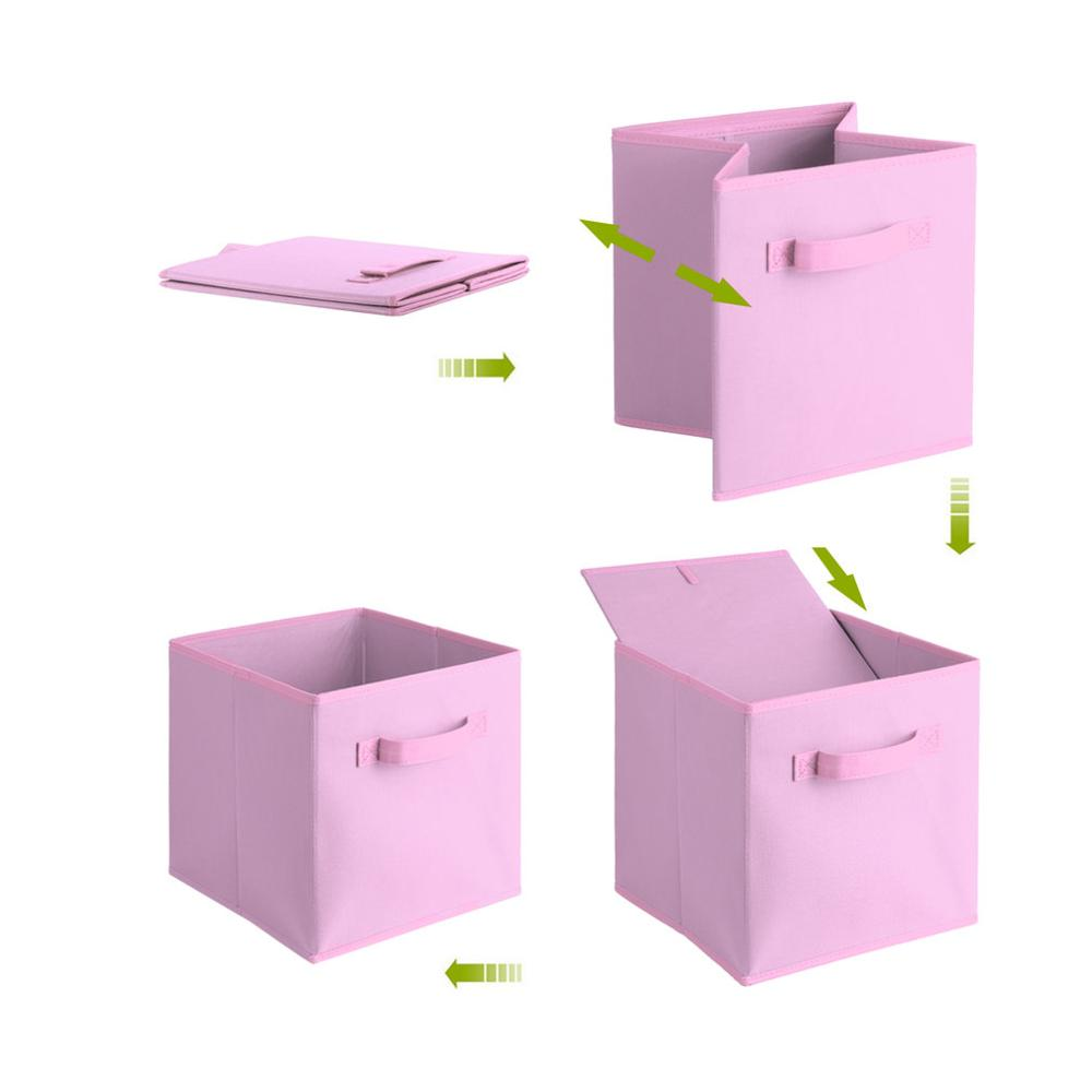 Simple Storage Box Bag Non-Woven Fabric Folding Case For Bra Underwear Toy Snacks Sundries Organizer For Cloth Print Storage