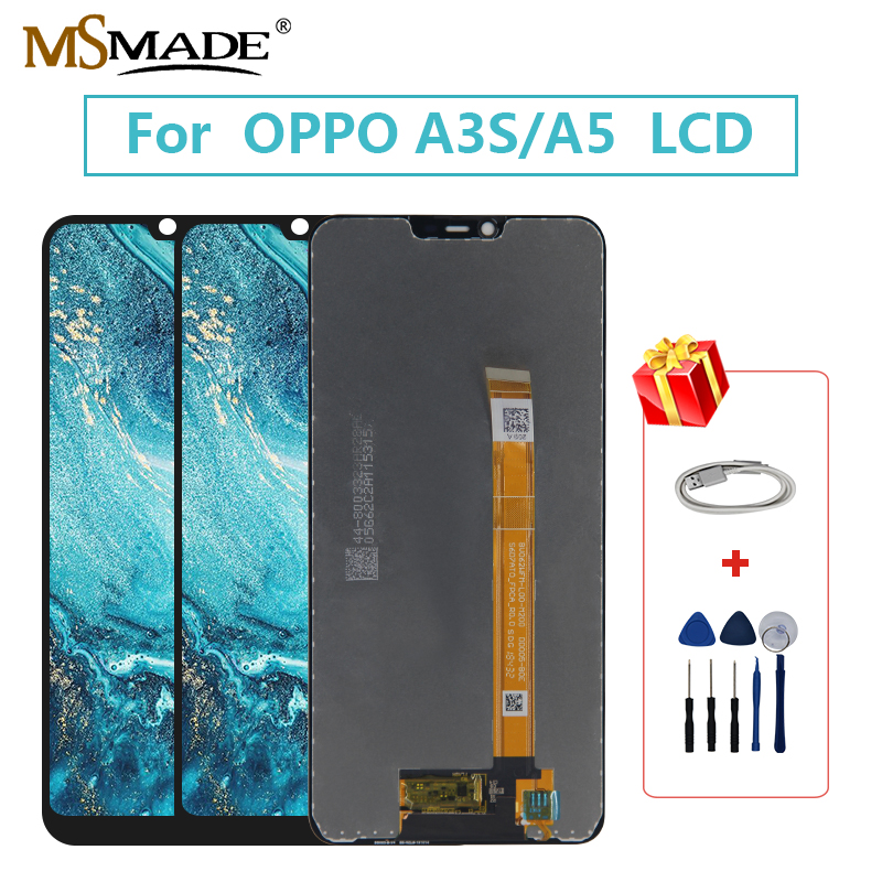 Original <font><b>LCD</b></font> For <font><b>OPPO</b></font> <font><b>A5</b></font> CPH1385 CPH1803 <font><b>LCD</b></font> Display Screen Touch Digitizer Replace Assembly Parts <font><b>OPPO</b></font> A3S <font><b>LCD</b></font> Screen image