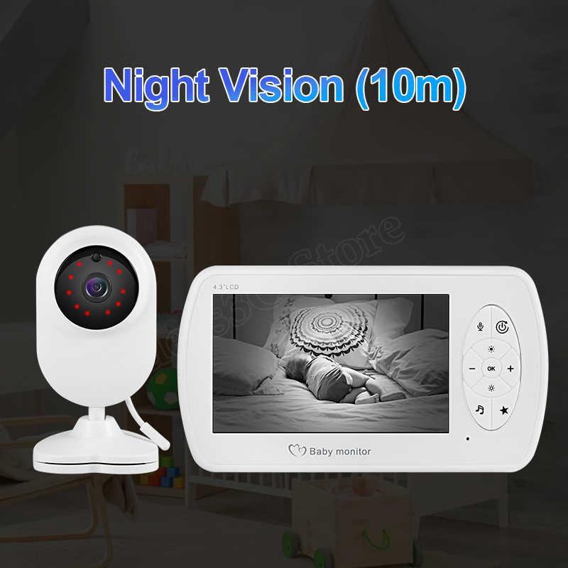 فيديو لاسلكي اللون مراقبة الطفل مع 4.3 بوصة LCD كاميرا لمراقبة الأطفال مع المشبك للرؤية الليلية مراقبة الأمن كاميرا جليسة الأطفال