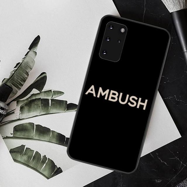 CUTEWANAN japon tendance marque embuscade Silicone souple noir étui de téléphone pour Samsung S20 plus Ultra S6 S7 edge S8 S9 plus S10 5G