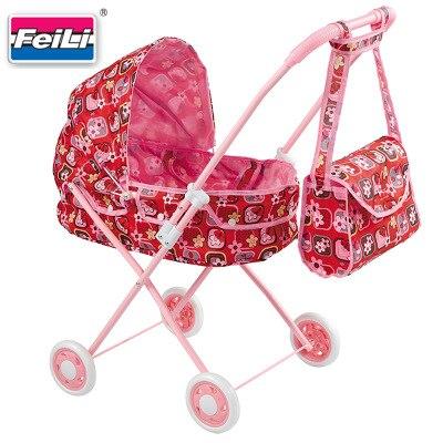 Jouets bébé poussette pliant bébé poupée chariot semblant jouer Similation meubles jouets poupée accessoire bébé poussette jouet cadeau
