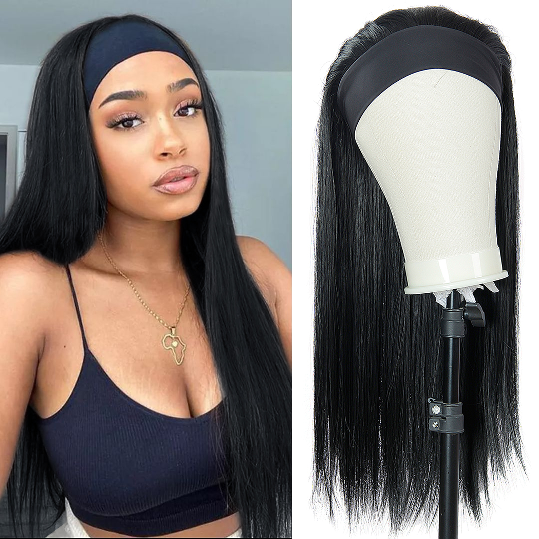 Wavy Synthetic Headband Wig 22inches Body Wavy Long Synthetic Hair Wig Straight Hair Wigs For Black Women Afro Curly Hair Wig