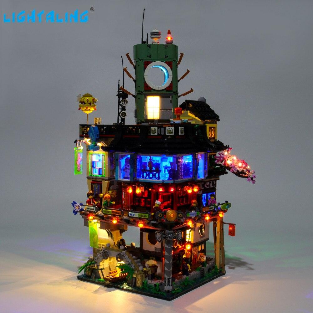 Lightaling Led Light Kit For Ninja City Building Blocks Compatible With 70620 ( Lighting Set Only )