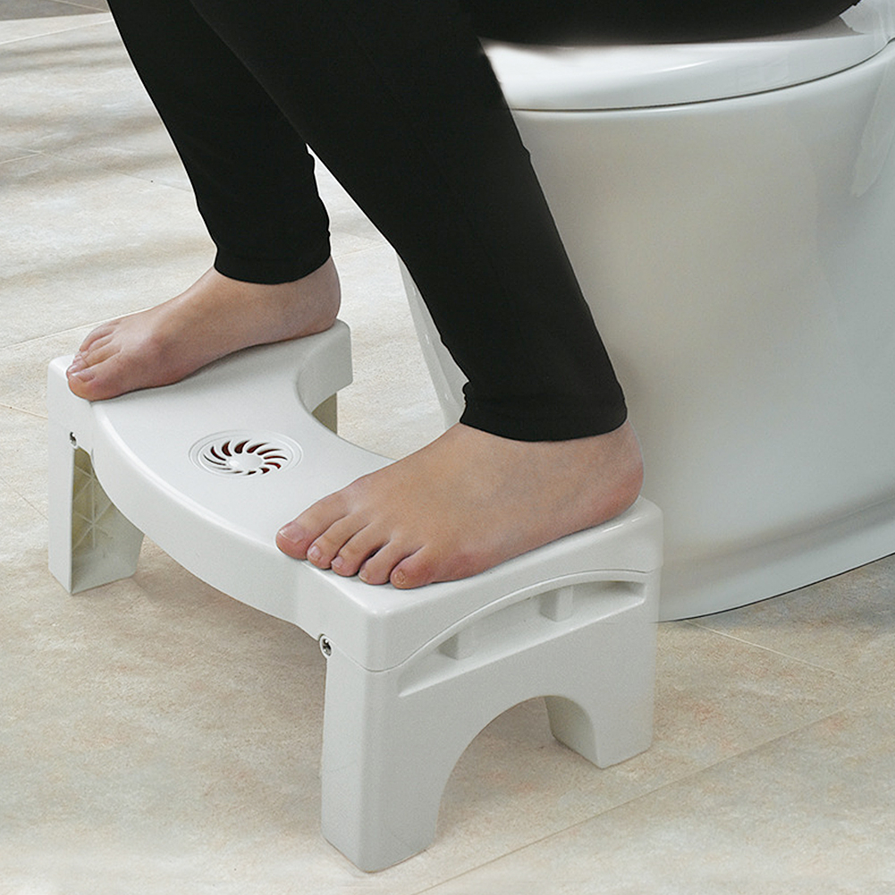 Squatty Potty Toilet Anti Constipation Stool For Kids Foldable Plastic Footstool Squatting Toilet Stool (no air fresh)