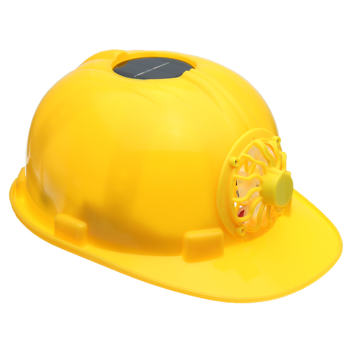 Solar Power Fan Helmet Outdoor Working Safety Hard Hat Construction Workplace ABS Material Protective Cap Powered Yellow