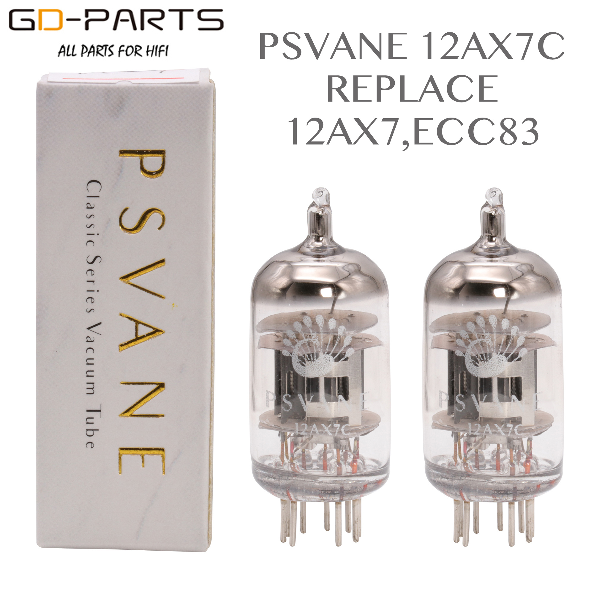PSVANE 12AX7C Vacuum Tube Replace ECC83 For HIFI DIY Audio Headphone Speaker Vintage Tube Amplifier