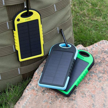 Solar 20000mAh power bank Portable Solar Panel Dual USB Battery Pack Charger Charging LED Battery Charger For iphone5 6 7 8 X 1