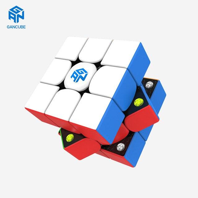 Fast delivery GAN cubes GAN 356 M stickerless 3x3 Speed cube Magnetic Professional Speed cube GAN356M 3x3 GAN 356 M Cubo Magico 5