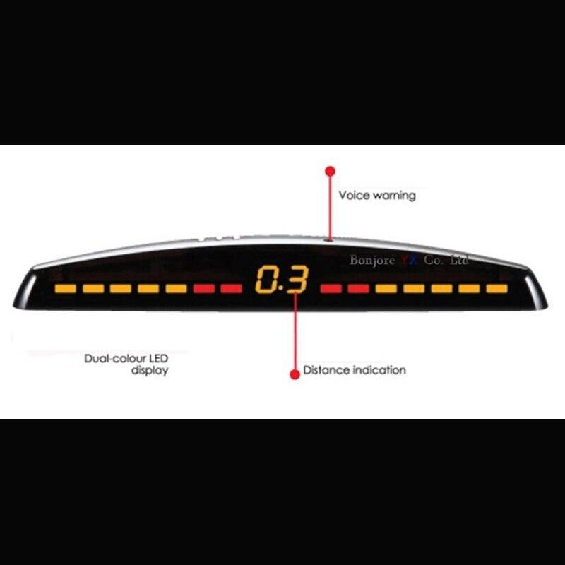 Koorinwoo LCD Bildschirm Auto parkplatz sensor 8 Front/zurück Radargeräte Monitor Autos Parktronic Sensoren Einparkhilfe Detektor