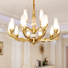 Post-morden Luxury Copper Black Chandelier Lighting For Bedroom Lamp Modern LED Light Living Dining Room 6/8/10/15/24 Lights