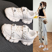 Dad Shoes Female Ins Trendy 2021 Summer New Mesh Breathable Student All-Match Rhinestone Sports Light Casual Shoes