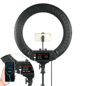 Image 5 - FOSOTO 18 Inch Led Ring Light 2700  6500K Photography Lighting Camera Phone RingLight Makeup Ring Lamp With Tripod And Remote