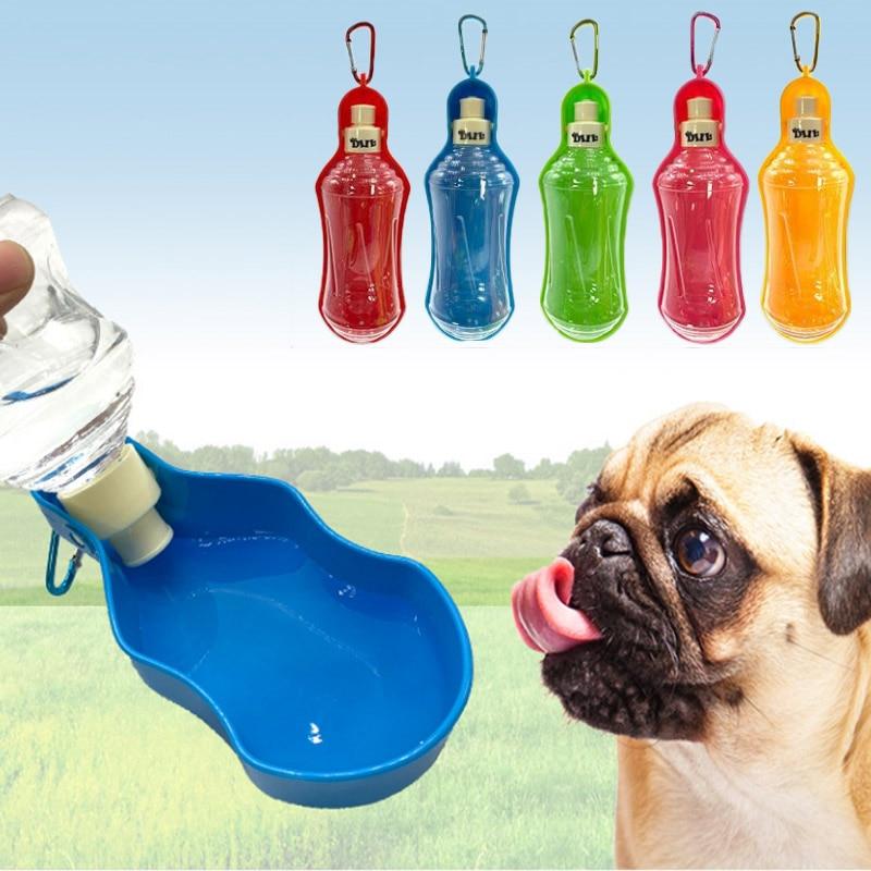 Pet Supplies Foldable Portable Leakage Proof Pet Water Dispenser Dog Outgoing Kettle 250/500ML Outdoor Travel Bottle Drinker